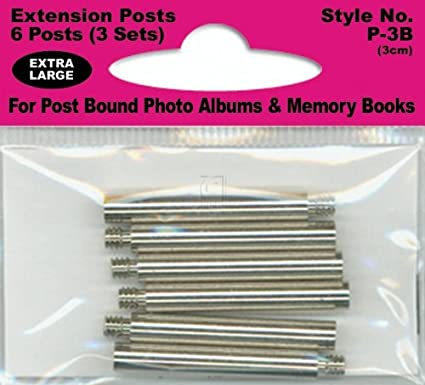 Pioneer Extra Long Extension Posts for all Post Bound Albums, 6-Posts (1) P3B PIP3A