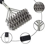 Bristle Free Safe Grill Brush, Safer than Grill Brushes with Wire Bristles, Professional Heavy Duty Stainless Steel, Grill Cleaner Healthier BBQ on Gas or Charcoal Grills