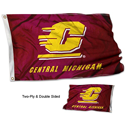 (College Flags and Banners Co. Central Michigan Chippewas Double Sided Flag)