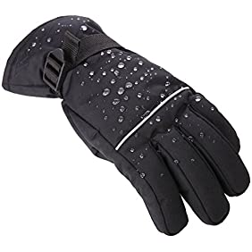 Tough Outdoors Winter Snow & Ski Gloves - Designed for Skiing, Snowboarding, Shredding, Shoveling & Snowballs - Waterproof & Windproof Shell & Reinforced Palm - Fits Men, Women & Kids