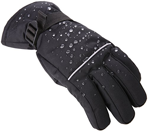 Tough Outdoors Winter Snow & Ski Gloves – Designed for Skiing, Snowboarding, Shredding, Shoveling & Snowballs – Waterproof, Windproof Thermal Shell & Synthetic Leather Palm – Fits Men & Women – DiZiSports Store