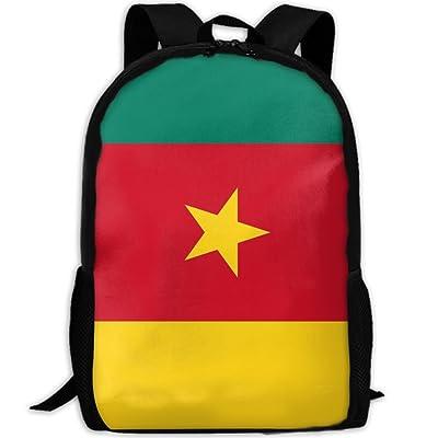 Kuswaq Flag Of Cameroon Unisex Novelty Laptop Bag Daypack Travel Shoulder Bag good
