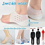 JapanAmStore 1Pair Invisible Height Insoles Soft