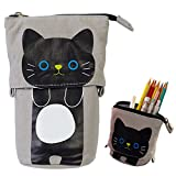 iSuperb Transformer Stand Cat Pencil Holder Cute Pencil Pouch Case Deal (Small Image)