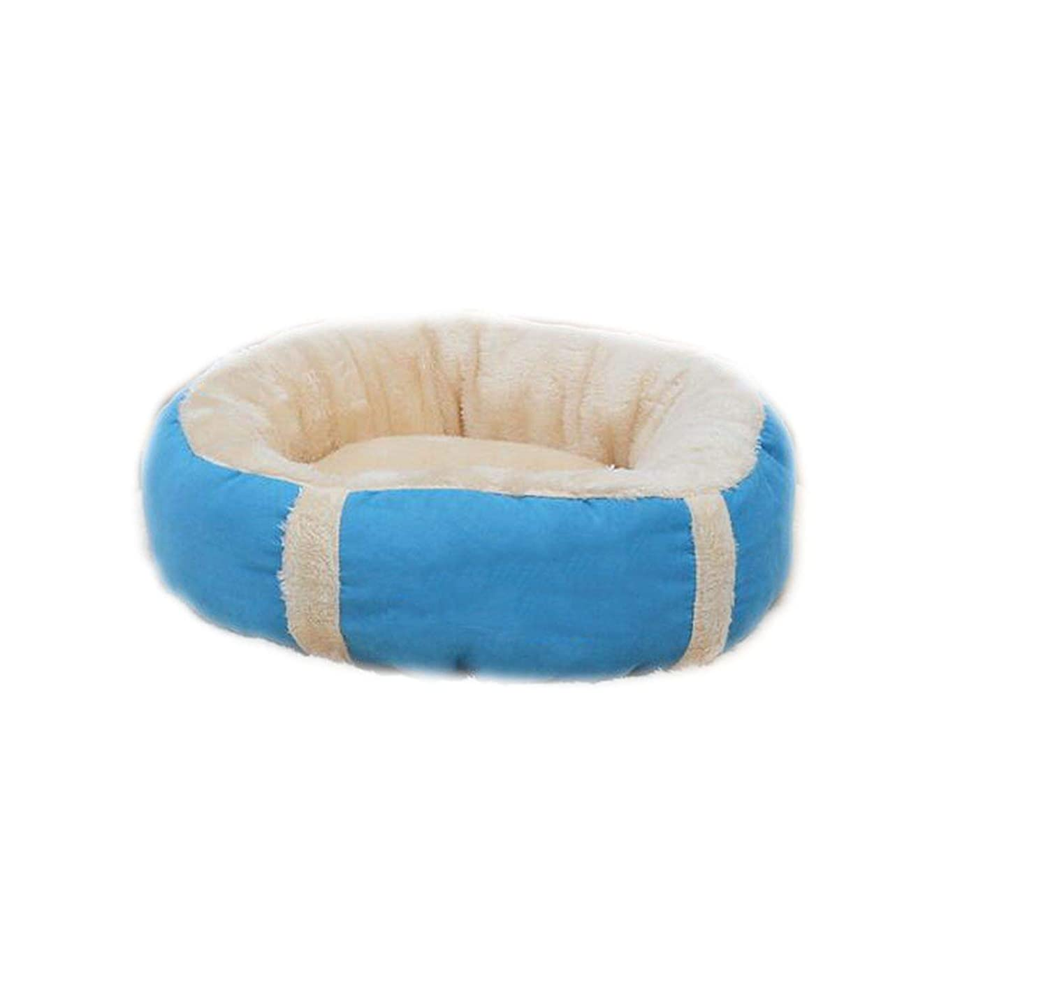 bluee M 50cm bluee M 50cm Removable Pet Dog Beds Warming Dog Cat Bed House Nest for Puppy Cat Pets Sofa Mat Cushion,bluee,M 50cm
