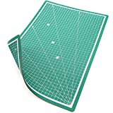 PRETEX Cutting Mat (A3), with Metric Linear Grid, in Green, 45 x 30 cm, Base with Self-Healing, Self-Closing Surface
