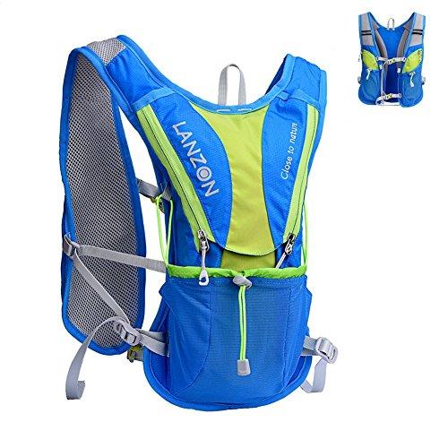 LANZON 2L Hydration Pack NO Bladder , Marathon Running Vest, Hiking Cycling Backpack