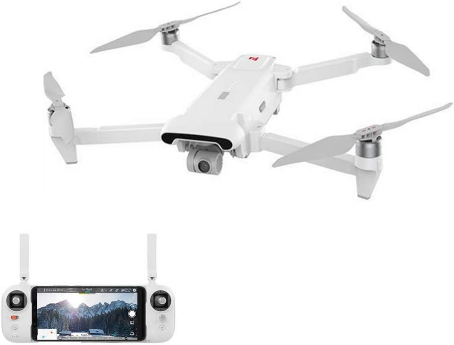 Xiaomi FIMI X8SE 2020 Foldable and Portable Desgin Drone 8km Range 35mins Flight Time 3X Digital Zoom Camera 4K HDR Video 3-Axis Mechanical Gimbal Rain-Proof Design FlyCam Quadcopter UAV with GPS