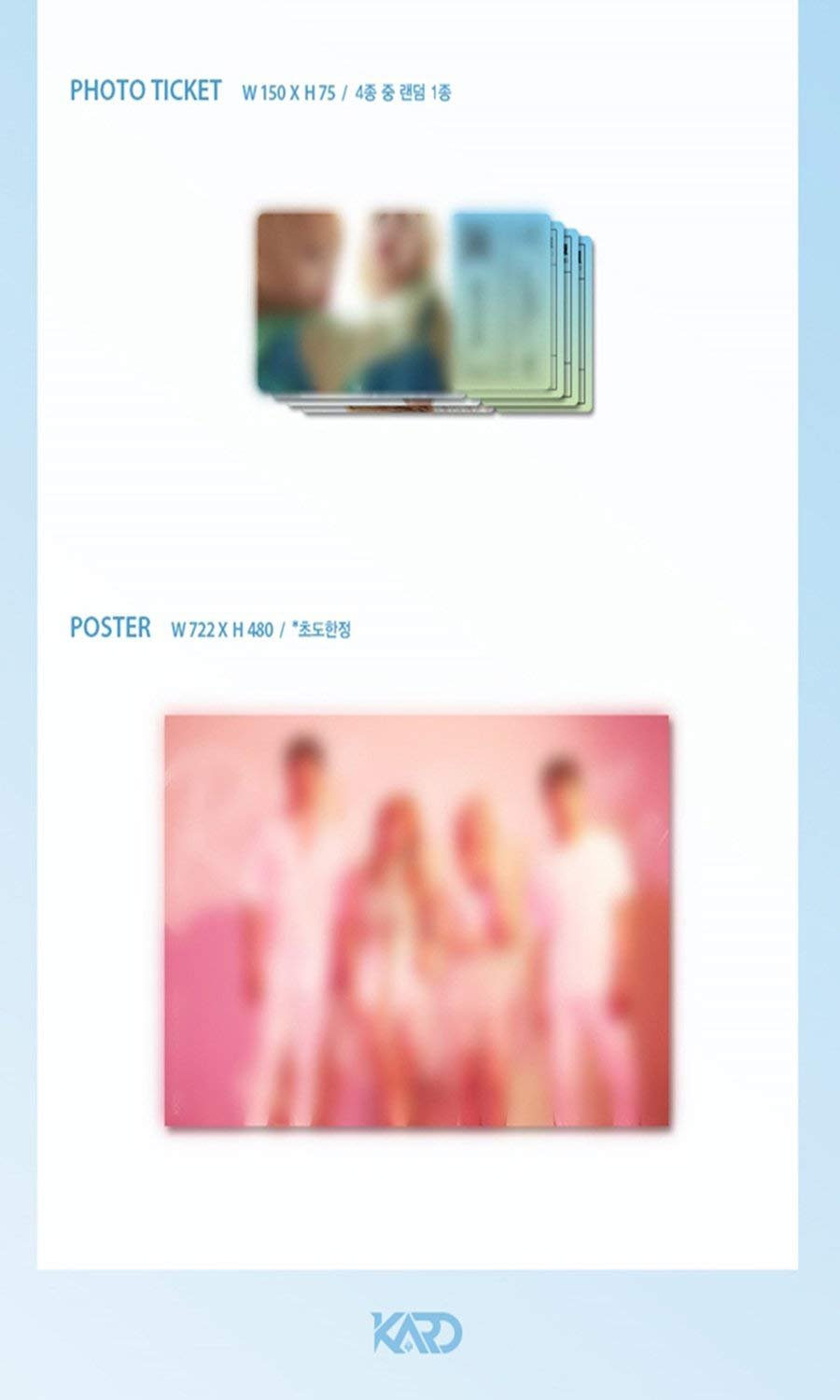 KARD [RIDE ON THE WIND] 3rd Mini Album CD+POSTER+PhotoBook+Photocard+Tracking Number K-POP SEALED by KARD Mini Album