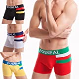 HONGLONG Men's underwear hip breathable combed cotton colour matching wide belts boyshort