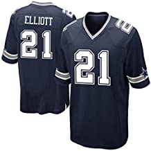 Mens Dallas-Cowboys Ezekiel Elliott #21 Game Jersey Navy