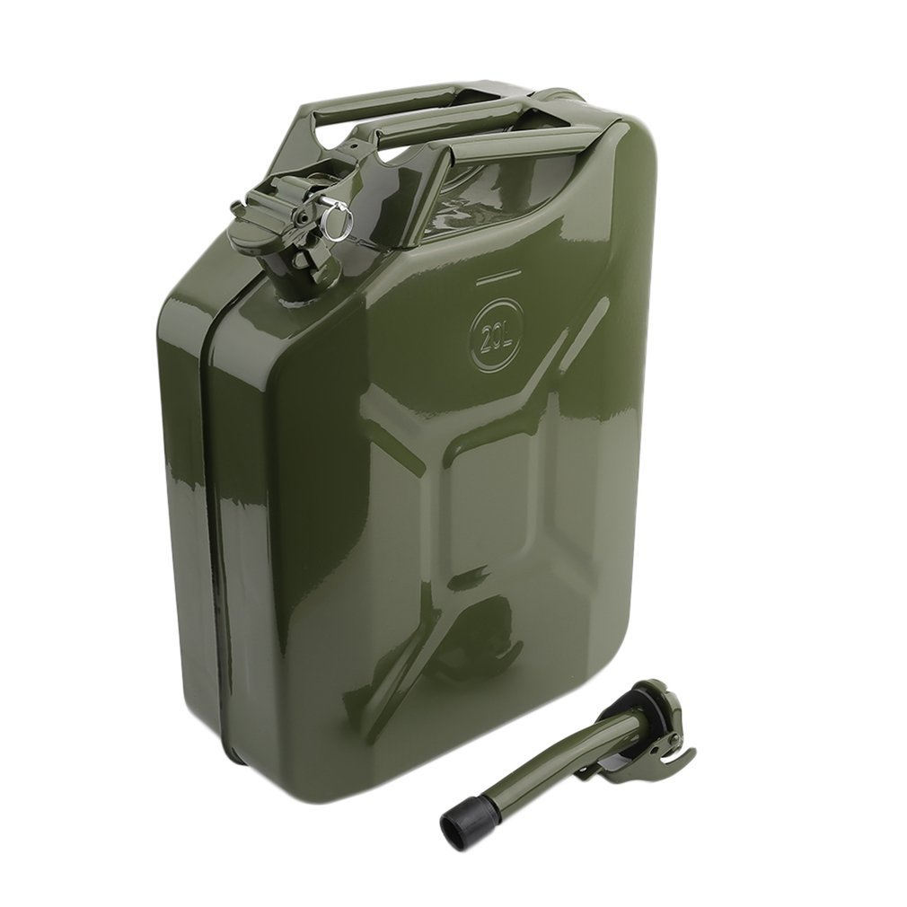 Homgrace Gas Can, 20L Capacity Gas Storage Tank Can(Army Green)