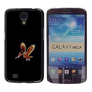 CASER CASES / Samsung Galaxy Mega 6.3 I9200 SGH-i527 / Fearow P0Kemon / Delgado Negro Plástico caso cubierta Shell Armor Funda Case Cover