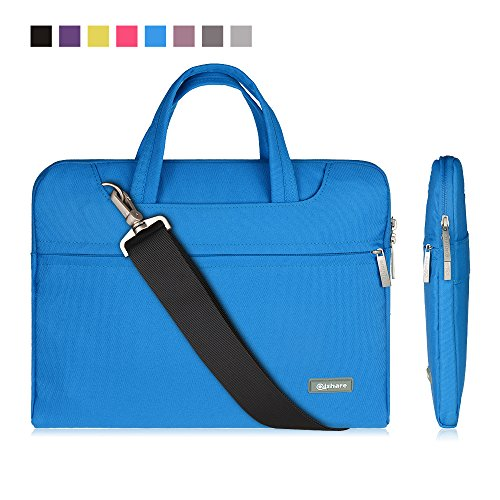 qishare-116-12-blue-multi-functional-business-briefcase-sleeve-messenger-case-with-handle-and-carryi