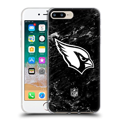 Official NFL Marble 2017/18 Arizona Cardinals Soft Gel Case for Apple iPhone 7 Plus / 8 ()