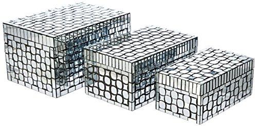 1984 3 Foley Mirror Mosaic Boxes