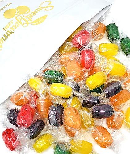 (SweetGourmet Assorted Fruit Barrels | Wrapped | Bulk Hard Candy | 3 pounds)