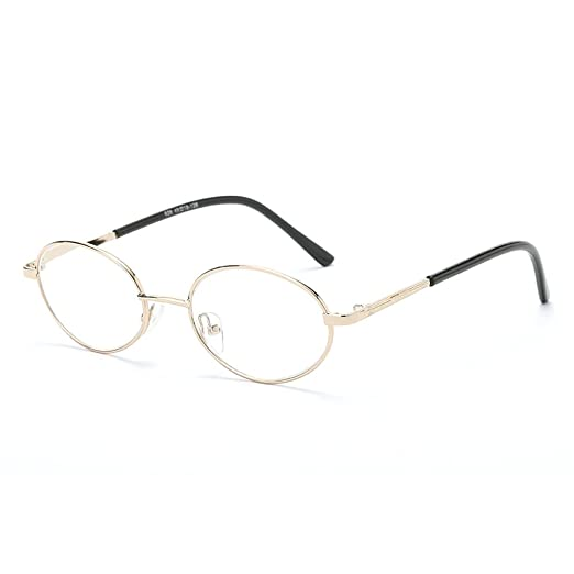170edc96fbe MINCL Fashion Round Reading Glasses Unisex Alloy Clear Lens Vintage Classic  Designer Eyewear (gold