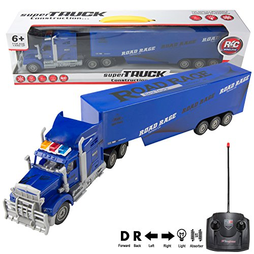 Truck with Trailer, Toy Electric Mega Big Rig Car (22