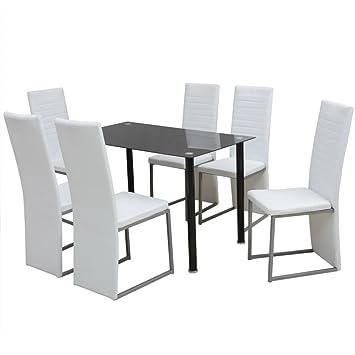 Conjunto de Comedor, Marco de Acero, conjunto mesa y sillas jardin,120 x 70 x 75 cm