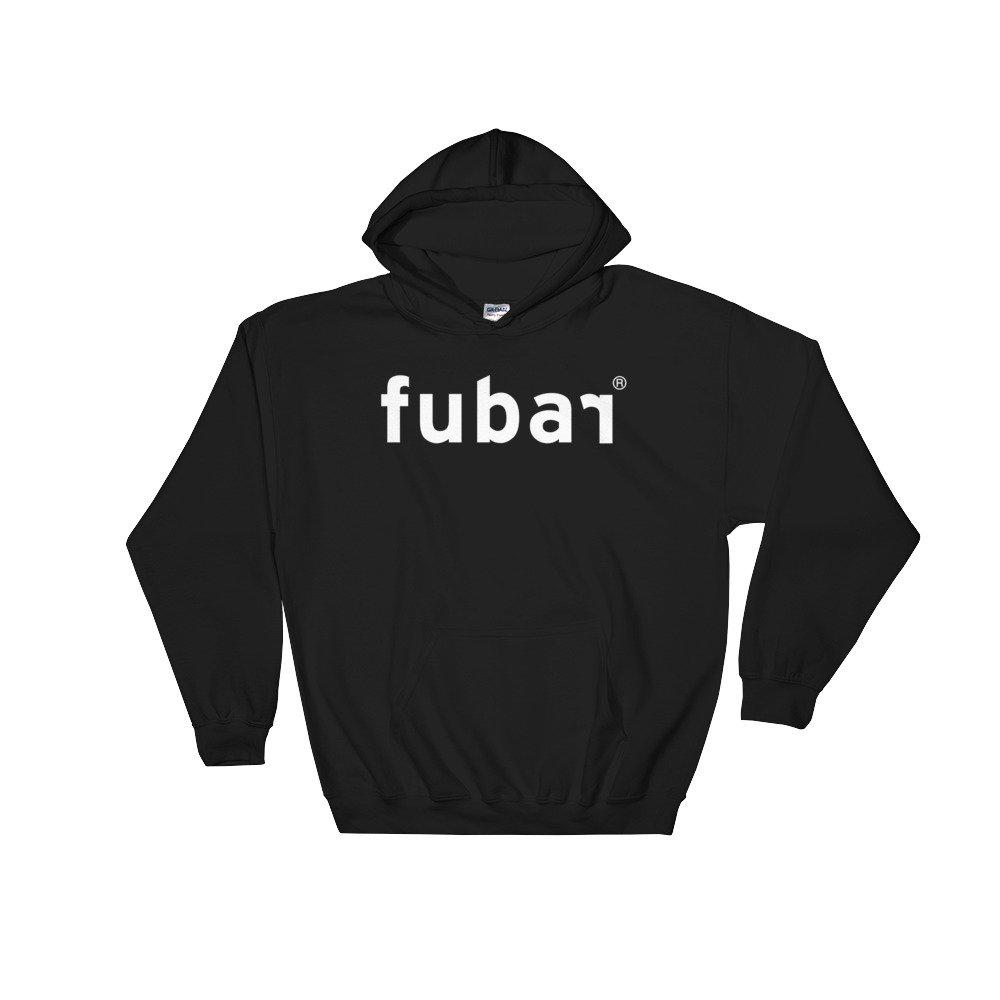 Fubar Missing Closure Logo Hooded Sweatshirt Black .