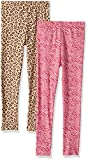 Gerber Toddler Girls 2 Pack Leggings, Animal Prints, 5T