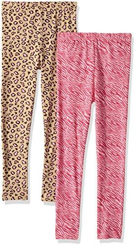 Gerber Toddler Girls 2 Pack Leggings, Animal Prints, 5T Toddler Animal Print