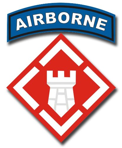 Military Vet Shop US Army 20th Engineering Brigade Airborne Window Bumper Sticker Decal 3.8