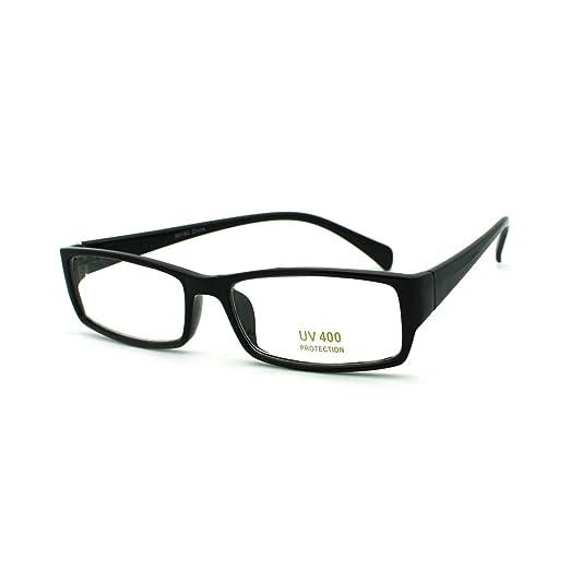 cdb3b337d7 Sexy School Teacher Look Narrow Rectangular Plastic Frame Eye Glasses Black