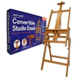 Mont Marte Convertible Studio Easel. Floor Easel Suitable for a Range of Canvas Sizes. Easy Height and Tilt Adjustment.