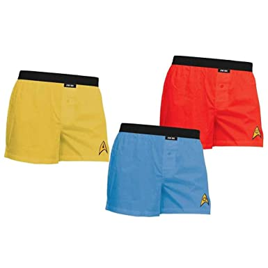 9ab44fcb67 Amazon.com  Star Trek Adult Uniform Boxer Briefs 3-Pack  Clothing
