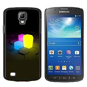 GIFT CHOICE / Teléfono Estuche protector Duro Cáscara Funda Cubierta Caso / Hard Case for Samsung Galaxy S4 Active i9295 // Neon Cubes //