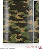 Sony PS3 Skin WraptorCamo Digital Timber