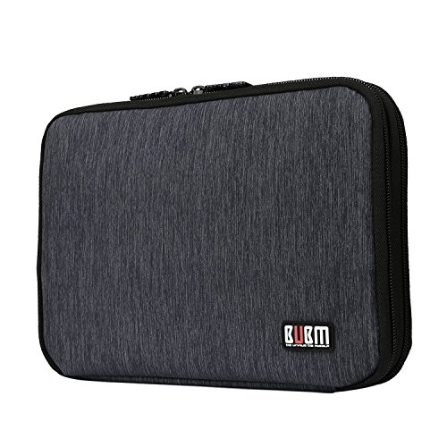 BUBM Travel Cable Organizer, Universal Electronic Accessories Bag Gear Storage Bag for Cord, USB Flash Drive, Earphone and More, Perfect Size for iPad Mini (Medium, Black)