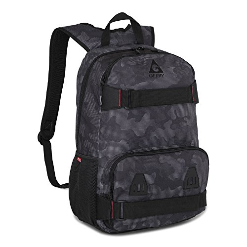 Gerry Outdoors - Lansing Nylon Camouflage Zip Top Backpack, Black