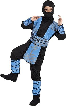 Ninja Warrior traje azul real. Tamaño: 7-9 años: Amazon.es ...