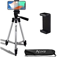 "Acuvar 50"" Inch Aluminum Camera Tripod with Quick Release + Universal Smartphone Mount for iPhone 12, iPhone 12 Mini…"