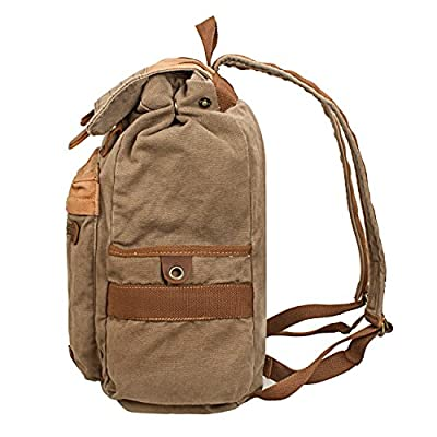 S ZONE Vintage retro Canvas Travel School Camping Backpack Rucksack