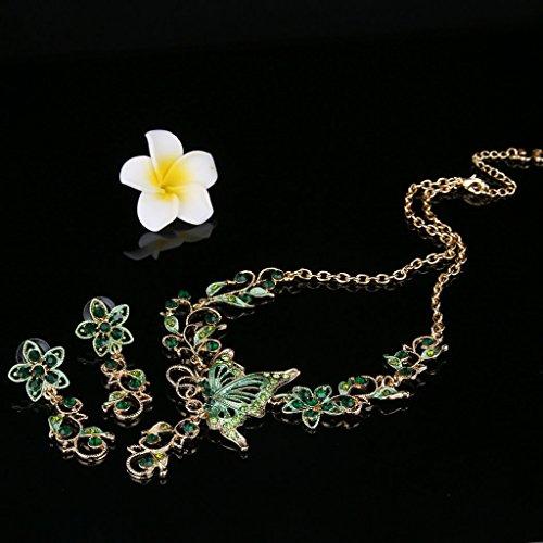 Oreleaa Fashion Stud Earrings Flower Party Wear American Diamonds