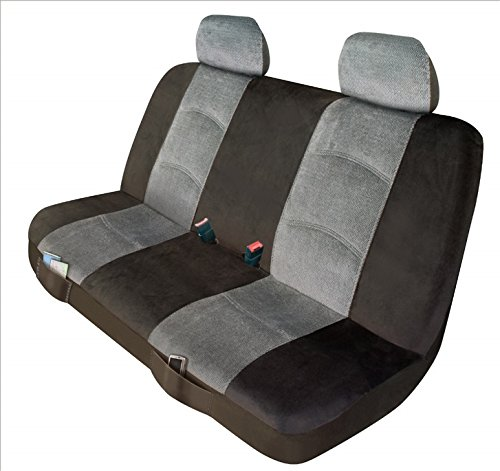 Automotive Innovations Royal Grey/Charcoal Polyester Front Bucket Universal Fit Seat Cover