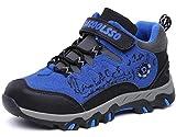 DADAWEN Kid's Waterproof Outdoor Fur Lining Hiking Athletic Running Sneakers (Toddler/Little Kid/Big Kid) Brown/Orange US Size 5 M Big Kid