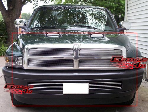 2001 Aluminum Grille - APS Compatible with 1994-2001 Dodge Ram Pickup Billet Grille Combo D67845A