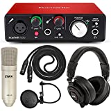 Focusrite Scarlett Solo USB Audio Interface and LyxPro Recording Bundle with Pro Tools | First