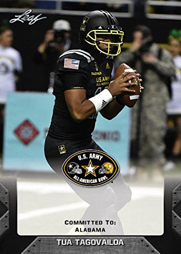 Tua Tagovailoa 2017 Leaf U S  Army High School All American Rookie Card  Alabama