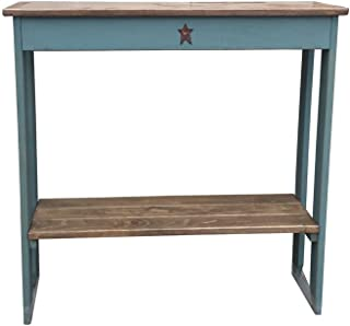 product image for Furniture Barn USA Primitive Rustic Country Style Sofa Table-Sea Foam Green
