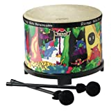 Remo-Kids-Percussion-Floor-Tom-Drum--Fabric-Rain-Forest-10