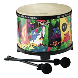 Remo Kids Percussion Floor Tom Drum - Fabric Rain Forest, 10\