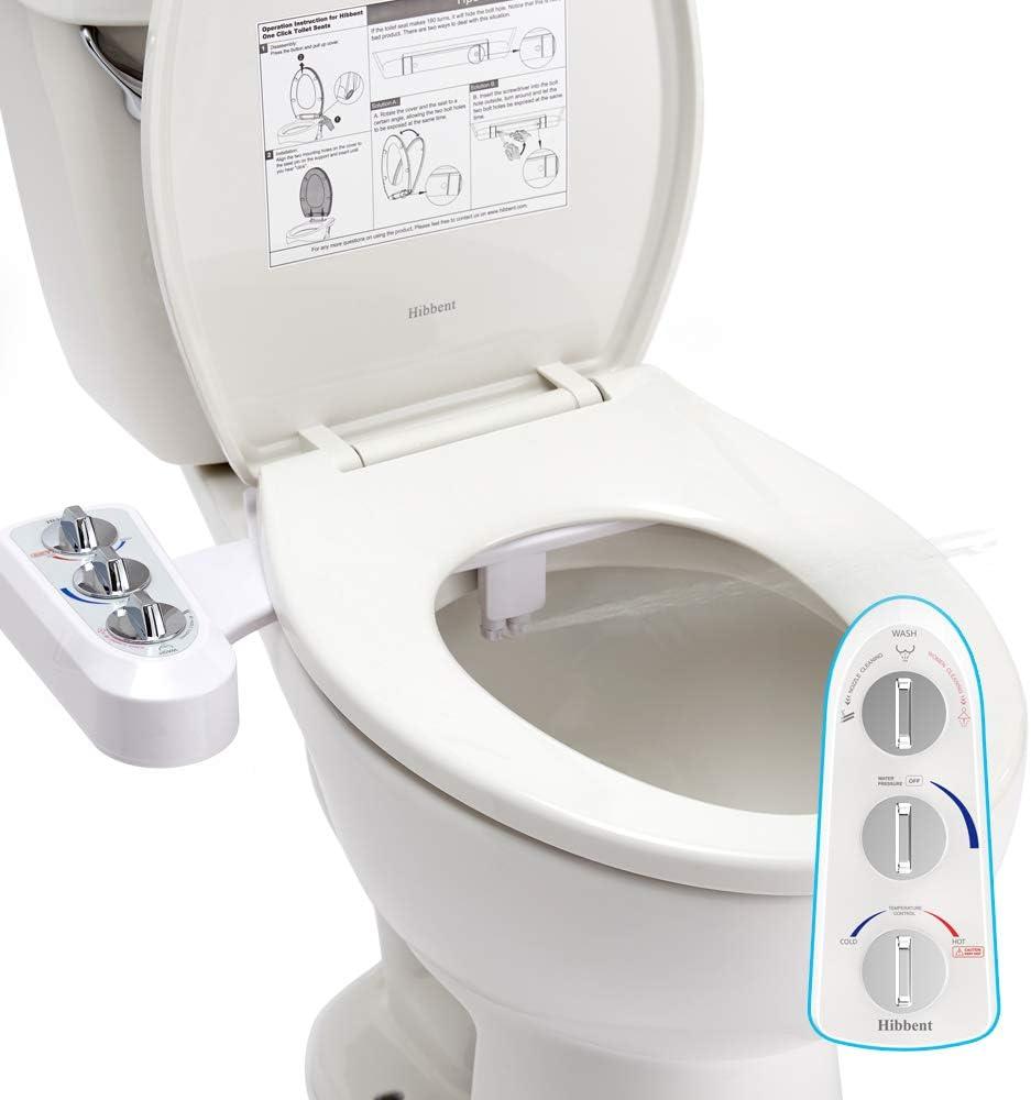 Amazon.com: Hibbent Toilet Seat Bidet with Self Cleaning Dual