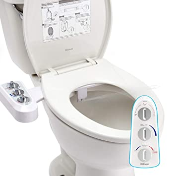 Pleasant Bidet Toilet Seat Attachment With Self Cleaning Dual Nozzle Hot And Cold Water Spray Non Electric Mechanical Toilet Seat Bidet For Rear Or Female Ibusinesslaw Wood Chair Design Ideas Ibusinesslaworg