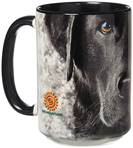- The Mountain 57325509001 Black Lab Face Coffee Mug 15 oz